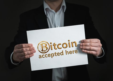 Imagen bitcoin y criptomondas aceptada